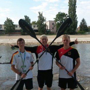 3 Störtebeker bei Weltmeisterschaft Kanu-Marathon in Györ/Ungarn