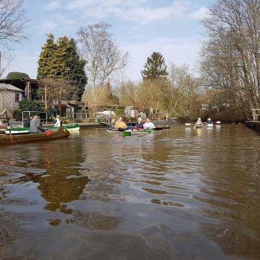 Anpaddeln beim WDW Delmenhorst