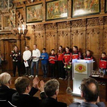 Ehrung für Nachwuchsathleten in der Oberen Rathaushalle Bremen